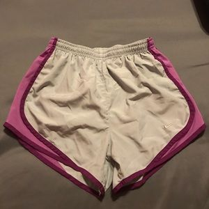 Womens grey and purple nike short
